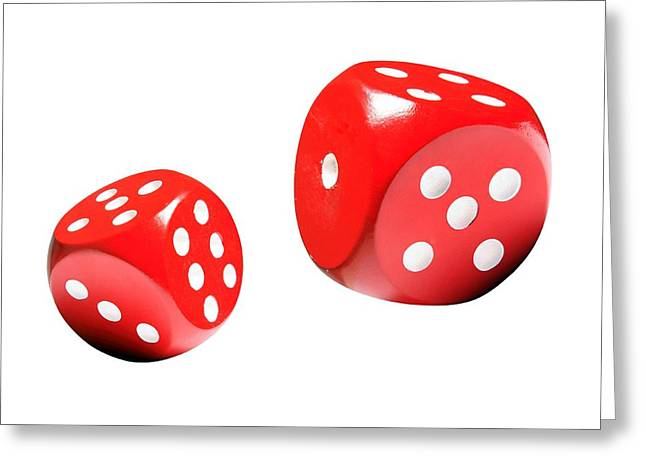 Maths Greeting Cards - Dice, Artwork Greeting Card by Victor De Schwanberg