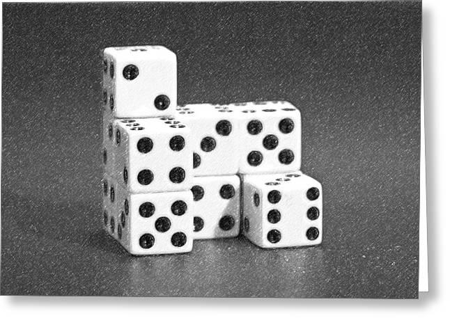 Dice Cubes I Greeting Card by Tom Mc Nemar