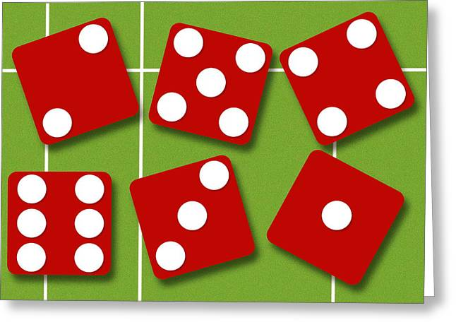 Game 6 Greeting Cards - Dice Greeting Card by David Nicholls