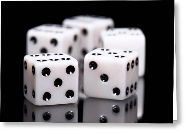 Board Games Greeting Cards - Dice I Greeting Card by Tom Mc Nemar