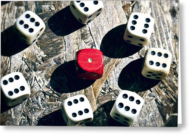 dice Greeting Card by Joana Kruse