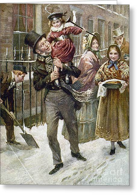 Carry Greeting Cards - Dickens: A Christmas Carol Greeting Card by Granger