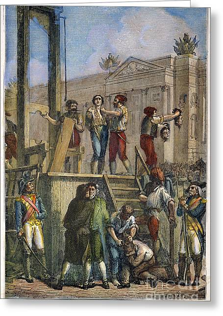 Beheading Photographs Greeting Cards - Dickens: Guillotine Greeting Card by Granger