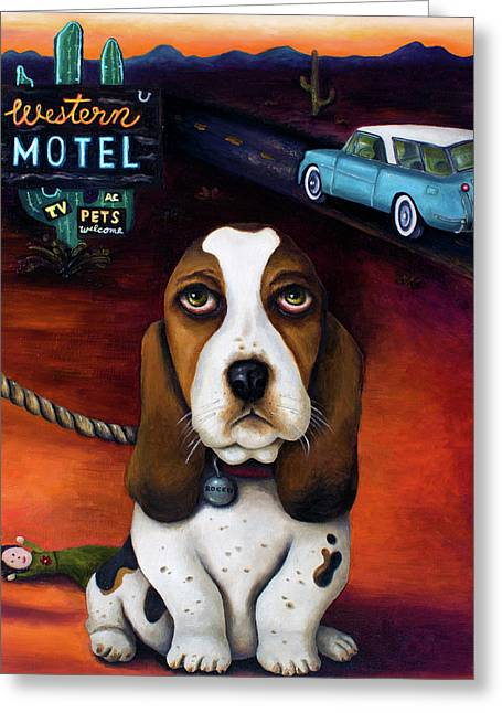 Western Southwest Greeting Cards - Did You Forget Something Greeting Card by Leah Saulnier The Painting Maniac