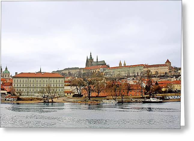 Die Moldau - Prague Greeting Card by Christine Till