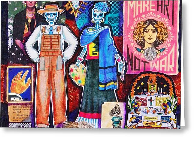 Mexican Artists Greeting Cards - Diego and Frida Greeting Card by Candy Mayer