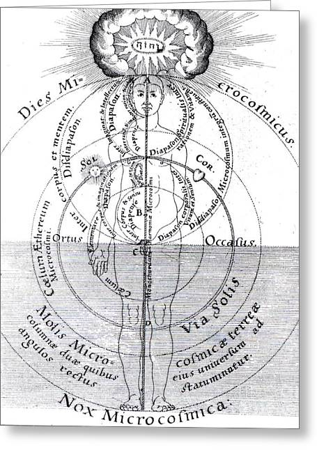 Dies Microcosmicus, Nox Microcosmica Greeting Card by Science Source