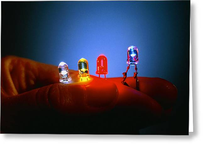 Lead Greeting Cards - Different Coloured Light Emitting Diodes (leds) Greeting Card by Volker Steger