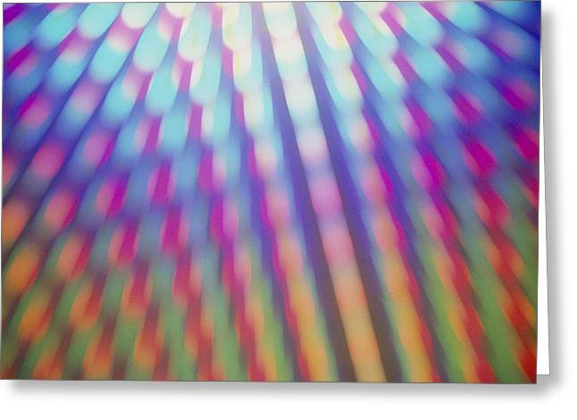 Spectrum Greeting Cards - Diffraction Effect Greeting Card by Martin Dohrn
