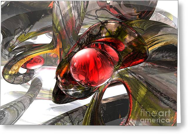 Consequences Greeting Cards - Digital Aftermath Abstract Greeting Card by Alexander Butler