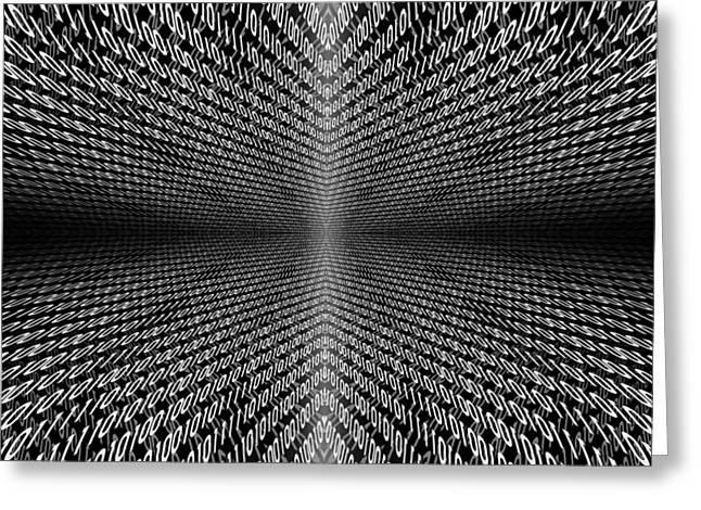 Awesomeness Greeting Cards - Digital Divide Vortex Greeting Card by Gordon Dean II