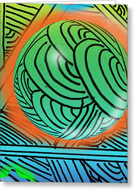 Abstract Digital Digital Greeting Cards - Digital Doodles Greeting Card by Anthony Caruso