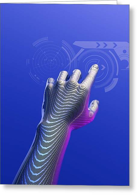 Digital Finger Greeting Cards - Digital Touchscreen, Artwork Greeting Card by Victor Habbick Visions