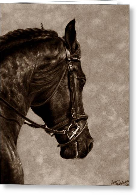 Dressage Pastels Greeting Cards - Dignified Classic Greeting Card by Loreen Pantaleone