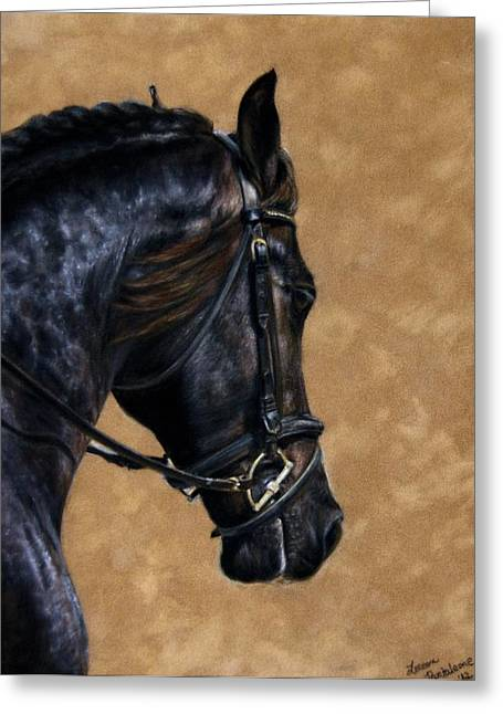 Dressage Pastels Greeting Cards - Dignified Greeting Card by Loreen Pantaleone
