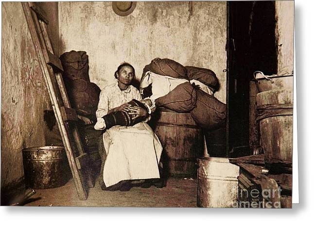 1880s Greeting Cards - Dignity In Poverty Greeting Card by Pg Reproductions