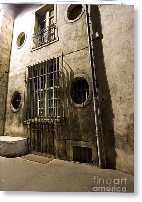 Old Street Greeting Cards - Dijon. Night lightning Greeting Card by Igor Kislev