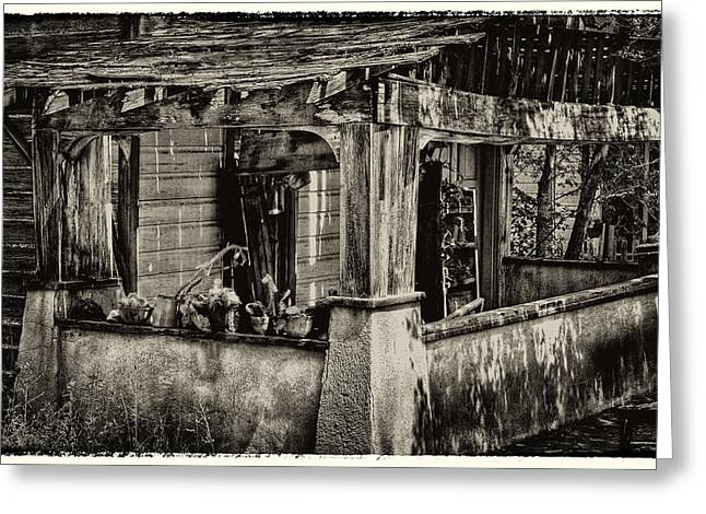Taos Greeting Cards - Dilapidated House Greeting Card by David Patterson
