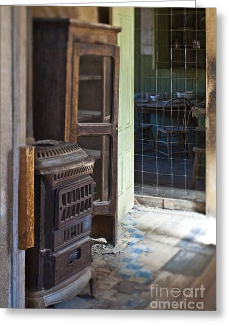 Floorboards Greeting Cards - Dilapidated Kitchen Greeting Card by Eddy Joaquim