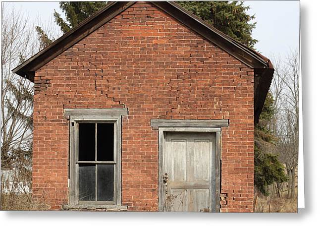 Dilapidated Old Brick Building Greeting Card by John Stephens