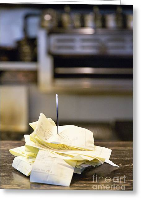 Receipt Greeting Cards - Diner Reciepts Greeting Card by Andersen Ross