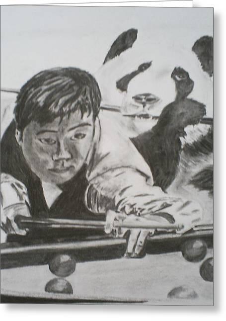 James Dolan Greeting Cards - Ding Junhui Snooker Greeting Card by James Dolan