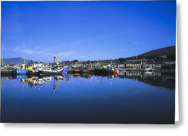 The Tourist Trade Greeting Cards - Dingle Harbour, Dingle, Co Kerry Greeting Card by The Irish Image Collection