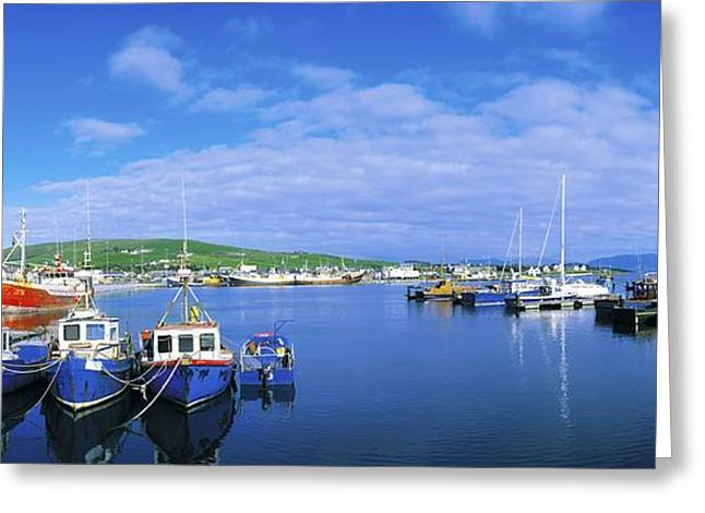The Tourist Trade Greeting Cards - Dingle Town & Harbour, Co Kerry, Ireland Greeting Card by The Irish Image Collection