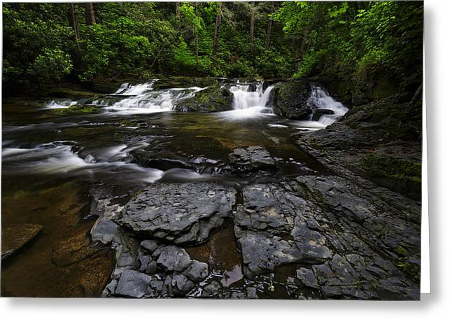 Waterfall Photographs Greeting Cards - Dingmans Creek II Greeting Card by Rick Berk