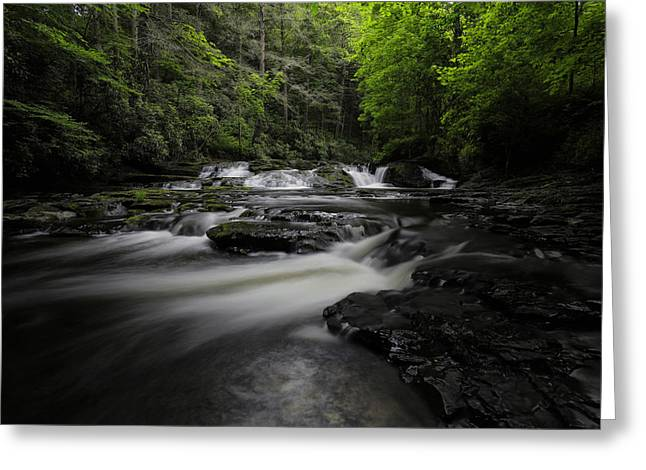 Waterfall Photographs Greeting Cards - Dingmans Creek III Greeting Card by Rick Berk