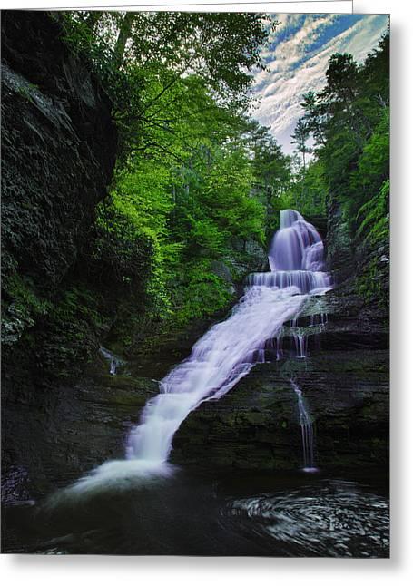 Waterfall Photographs Greeting Cards - Dingmans Falls Greeting Card by Rick Berk
