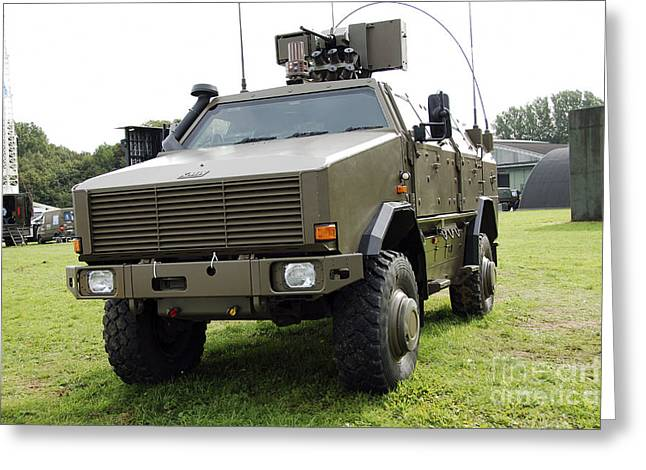 Component Greeting Cards - Dingo Ii Vehicle Of The Belgian Army Greeting Card by Luc De Jaeger
