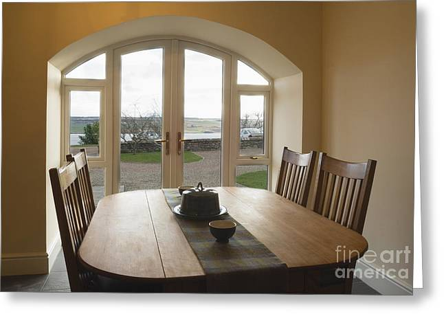 French Doors Greeting Cards - Dining Room table Greeting Card by Iain Sarjeant