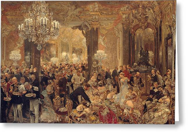 Ball Room Greeting Cards - Dinner at the Ball Greeting Card by