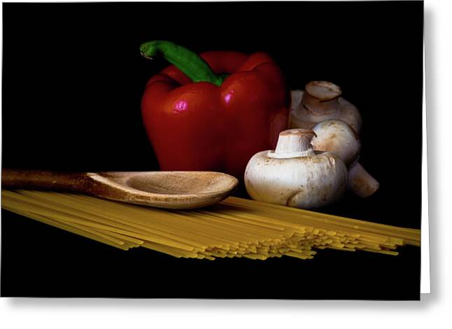 Spaghetti Greeting Cards - Dinner in the Making Greeting Card by Joan McDaniel