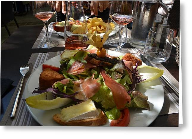 Wine Service Photographs Greeting Cards - Dinner is served Greeting Card by Dany  Lison