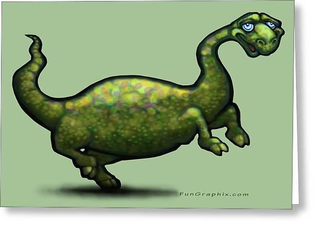 Dinosaur Greeting Cards - Dinosaur Greeting Card by Kevin Middleton