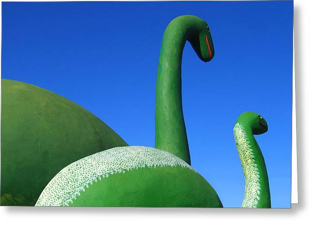 Dinosaur Walk  Greeting Card by Mike McGlothlen