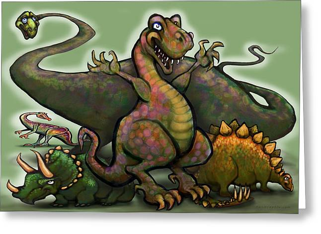 Dinosaur Greeting Cards - Dinosaurs Greeting Card by Kevin Middleton