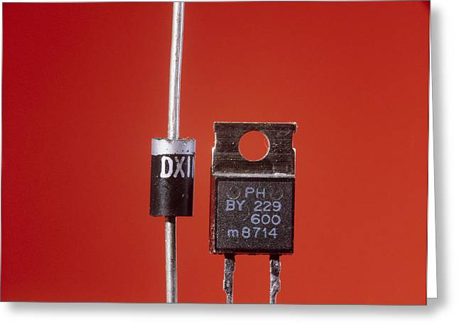 Electronic Component Greeting Cards - Diodes Greeting Card by Andrew Lambert Photography