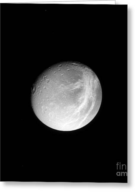 October 17 Greeting Cards - Dione Greeting Card by NASA / Science Source