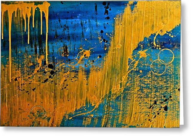 Dipped In Gold Greeting Card by Eric Chapman