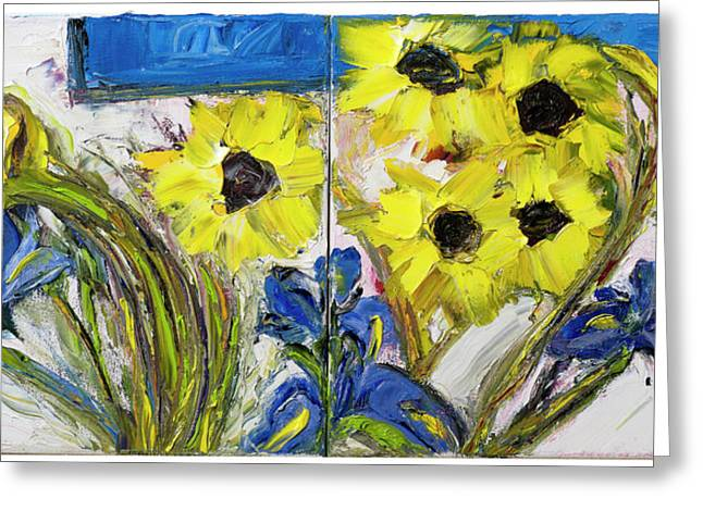 Van Gogh Style Greeting Cards - Diptych Greeting Card by Dan Castle