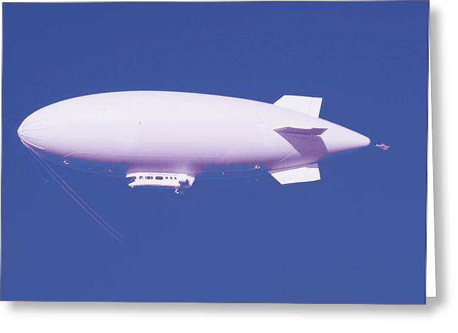 Hope You Enjoy . Greeting Cards - Dirigible Greeting Card by Al Bourassa