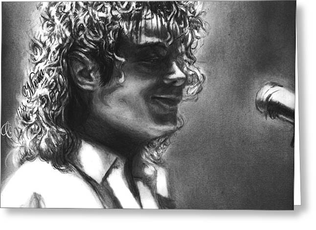 Mj Drawings Greeting Cards - Dirty Diana Greeting Card by Carliss Mora