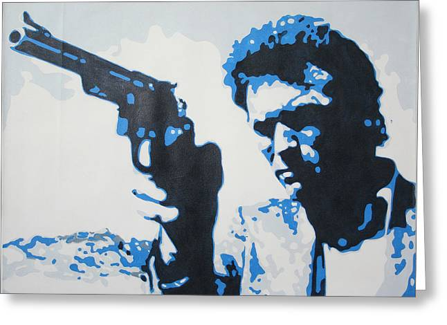 Midday Paintings Greeting Cards - Dirty Harry Greeting Card by Luis Ludzska