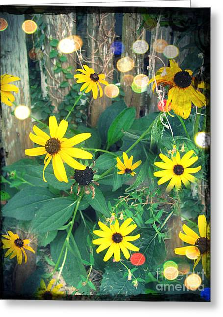 Green And Yellow Digital Greeting Cards - Dirty Susan Greeting Card by Laura Brightwood