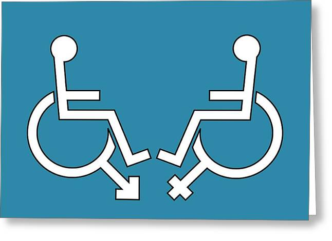 Disability Greeting Cards - Disability Sexuality, Conceptual Artwork Greeting Card by Stephen Wood