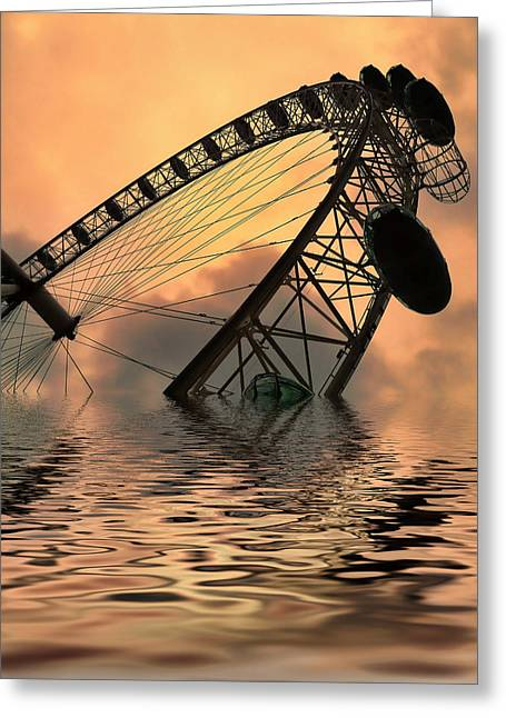 Flood Digital Greeting Cards - Disaster Greeting Card by Sharon Lisa Clarke