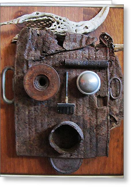 Rust Sculptures Greeting Cards - Disbelief Greeting Card by Snake Jagger